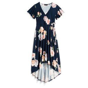 Wrapped maxi dress